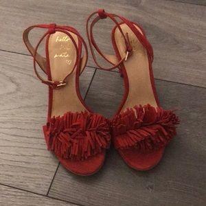 Banana Republic Heeled Red Sandals